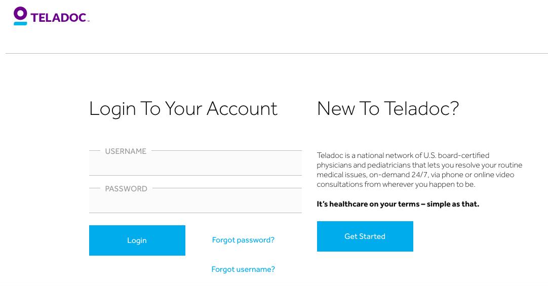 Teledoc website